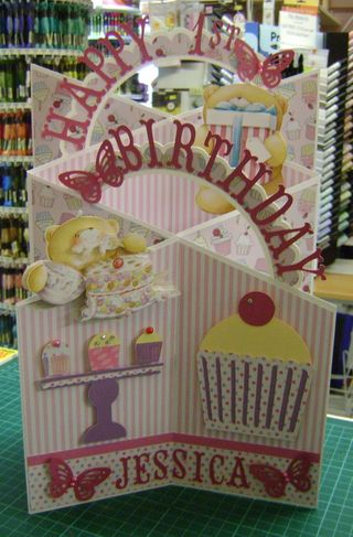 1st birthday cascade card